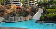 Hilton Waikoloa Village - The largest slide at the ocean tower pool.