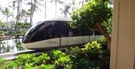 Hilton Waikoloa Village - A monorail slowly driving by.