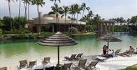 Hilton Waikoloa Village - It's a nice man made beach, but the water really is that green.