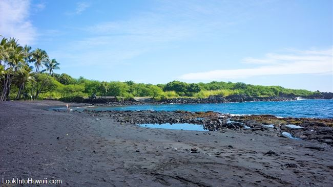 Punaluu Black Sand Beach Park Beaches On Island Pahala