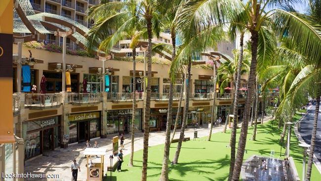Waikiki Beach Walk Shops Services On Oahu Honolulu Hawaii