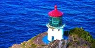 Makapu'u Point Lighthouse Trail - After a beautiful scenic hike the Makapu'u Lighthouse appeared to the right hand side of the mountain's summit. Very please with the breathtaking and breezy hike. A must see spot! - Image Uploaded By Maria