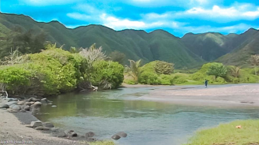 Halawa Valley Beach Park In Molokai Kaunakakai Hawaii